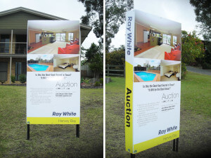 Real Estate signage Hervey Bay